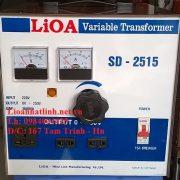 BIẾN ÁP VÔ CẤP LIOA 1 PHA 3,3KVA MODEL SD-2515